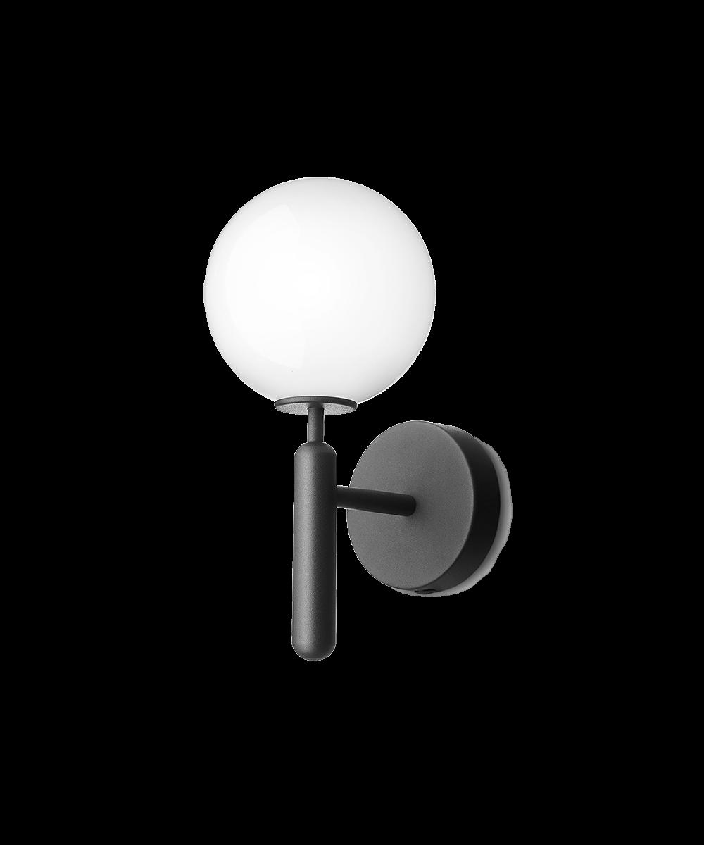 Miira væglampe rock grey/opal white