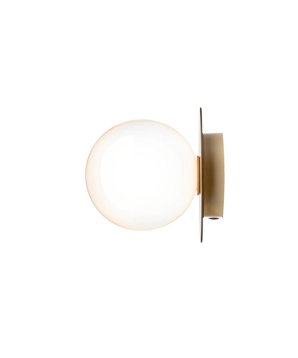 Liila 1 væglampe/loftlampe nordic gold/opal white
