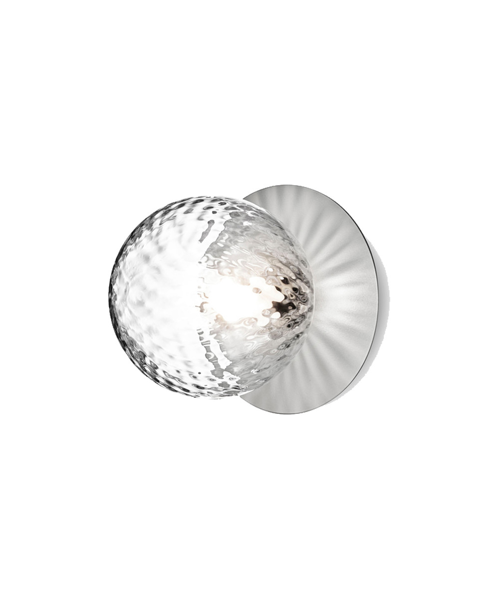 Liila 1 Væglampe/Loftlampe Light Silver/Optic Clear - Nuura