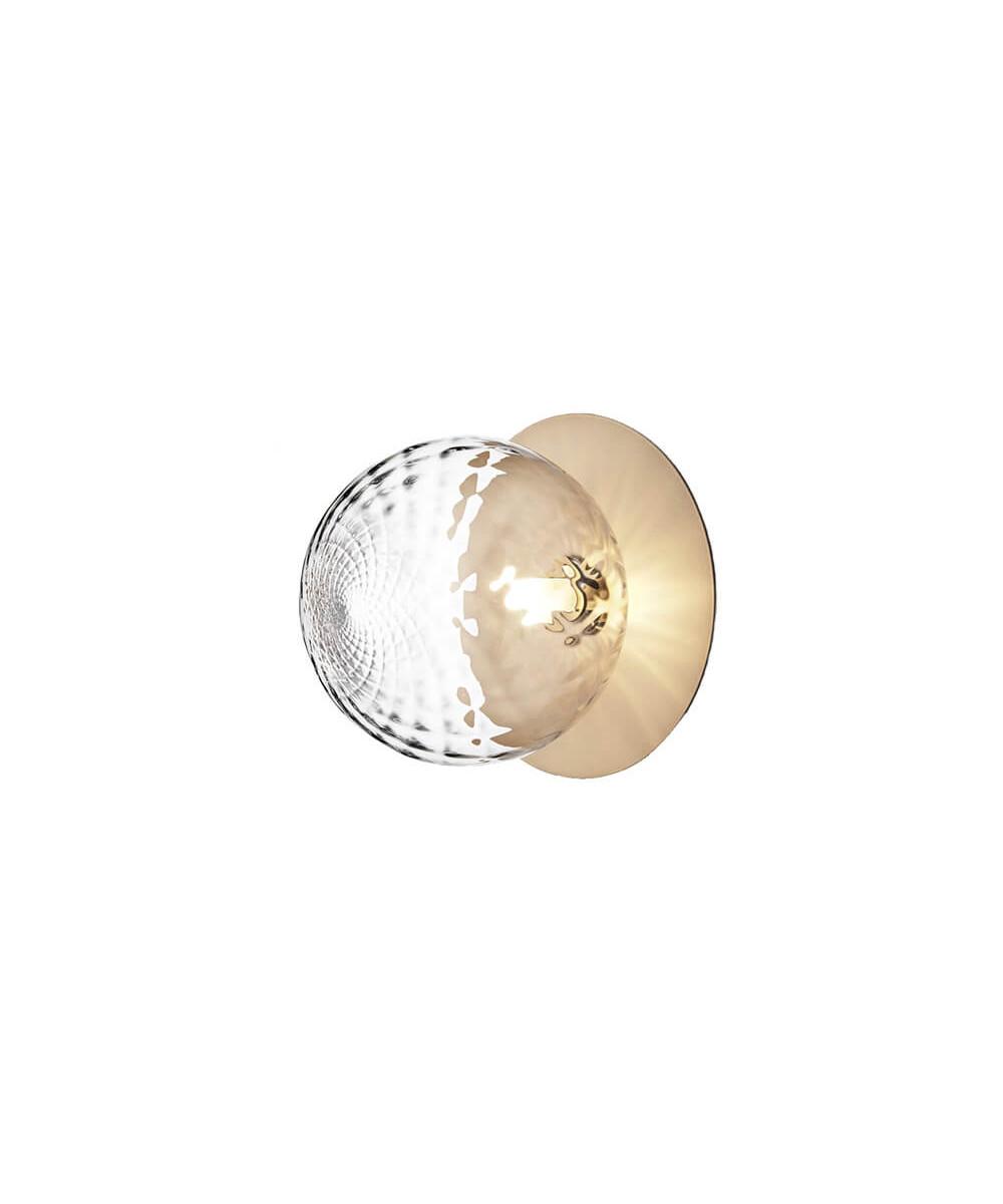 Liila 1 Large Væglampe/Loftlampe Nordic Gold/Optic Clear - Nuura