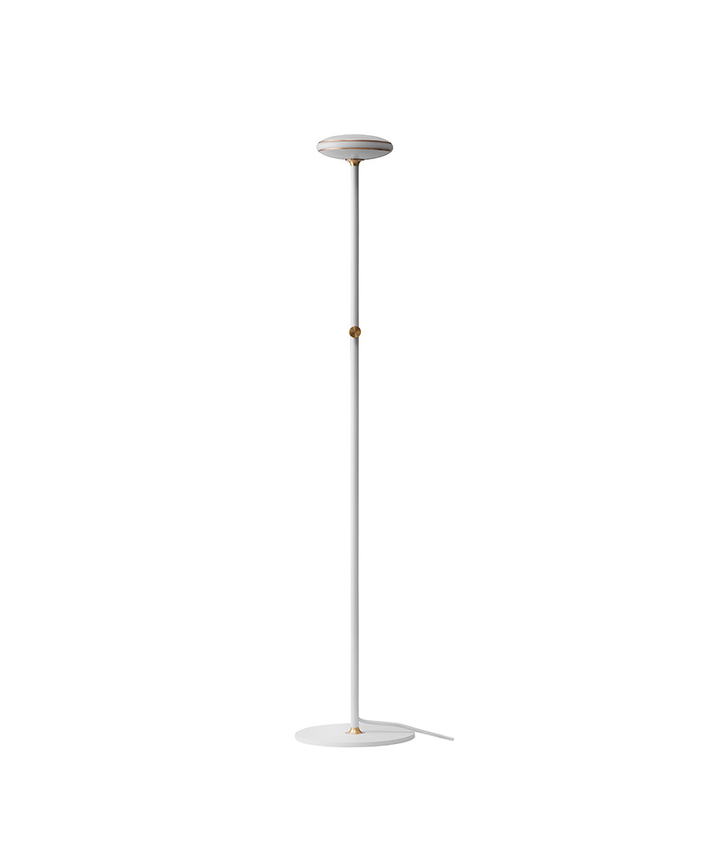 ØS1 Gulvlampe Hvid/Messing - Shade