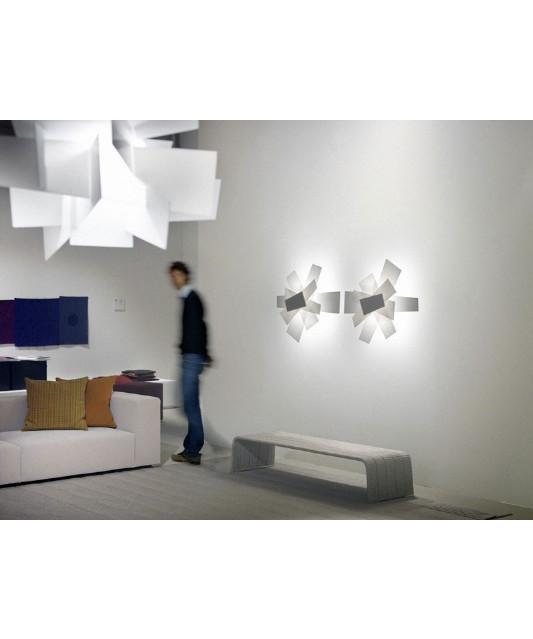 big bang vegglampe taklampe hvit foscarini. Black Bedroom Furniture Sets. Home Design Ideas