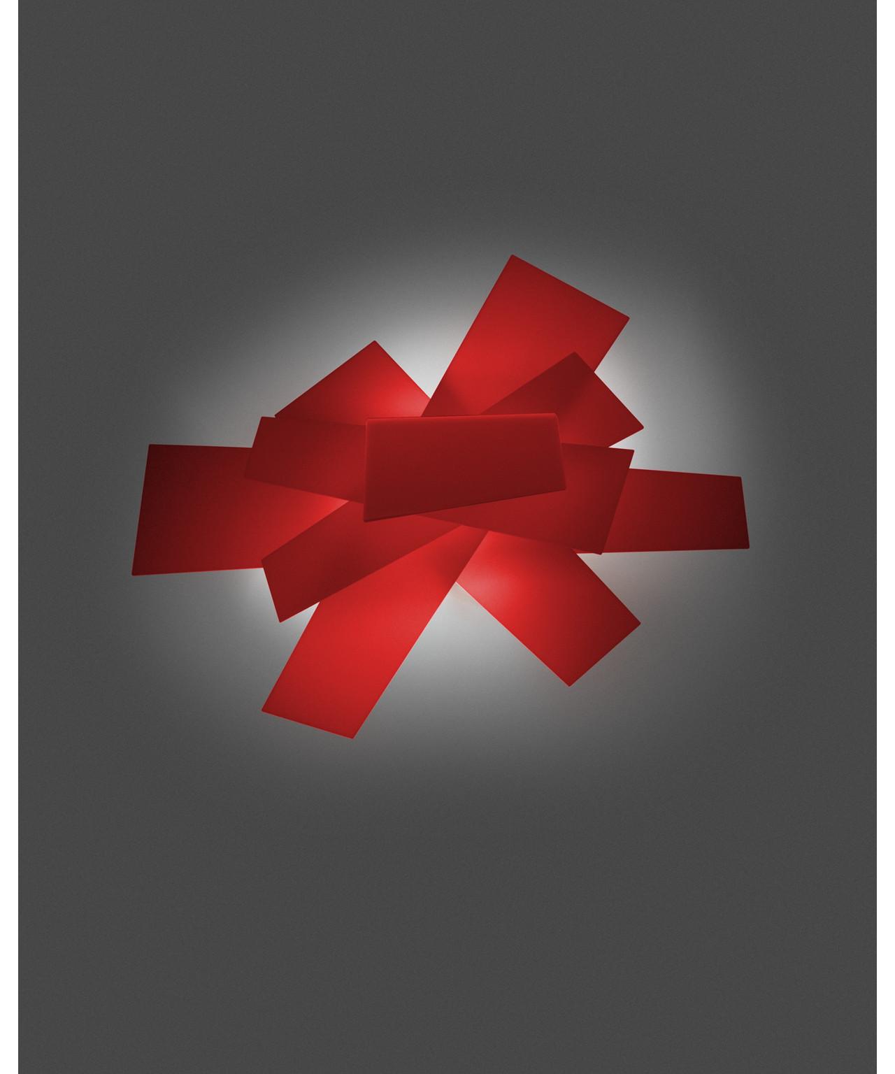 big bang wandleuchte deckenleuchte rot foscarini. Black Bedroom Furniture Sets. Home Design Ideas