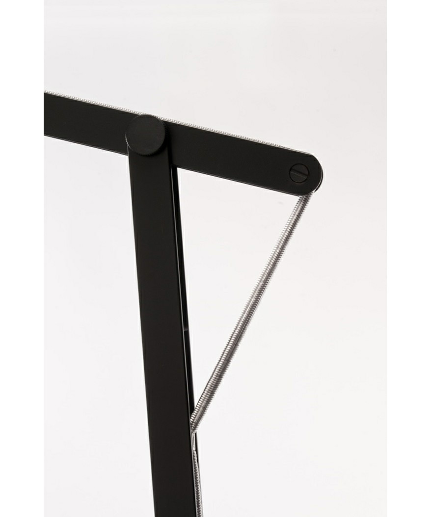 String XL Gulvlampe Sort/Sølv Elastik - Rotaliana