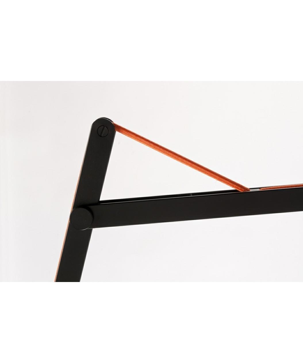 String w0 væglampe sort/orange elastik