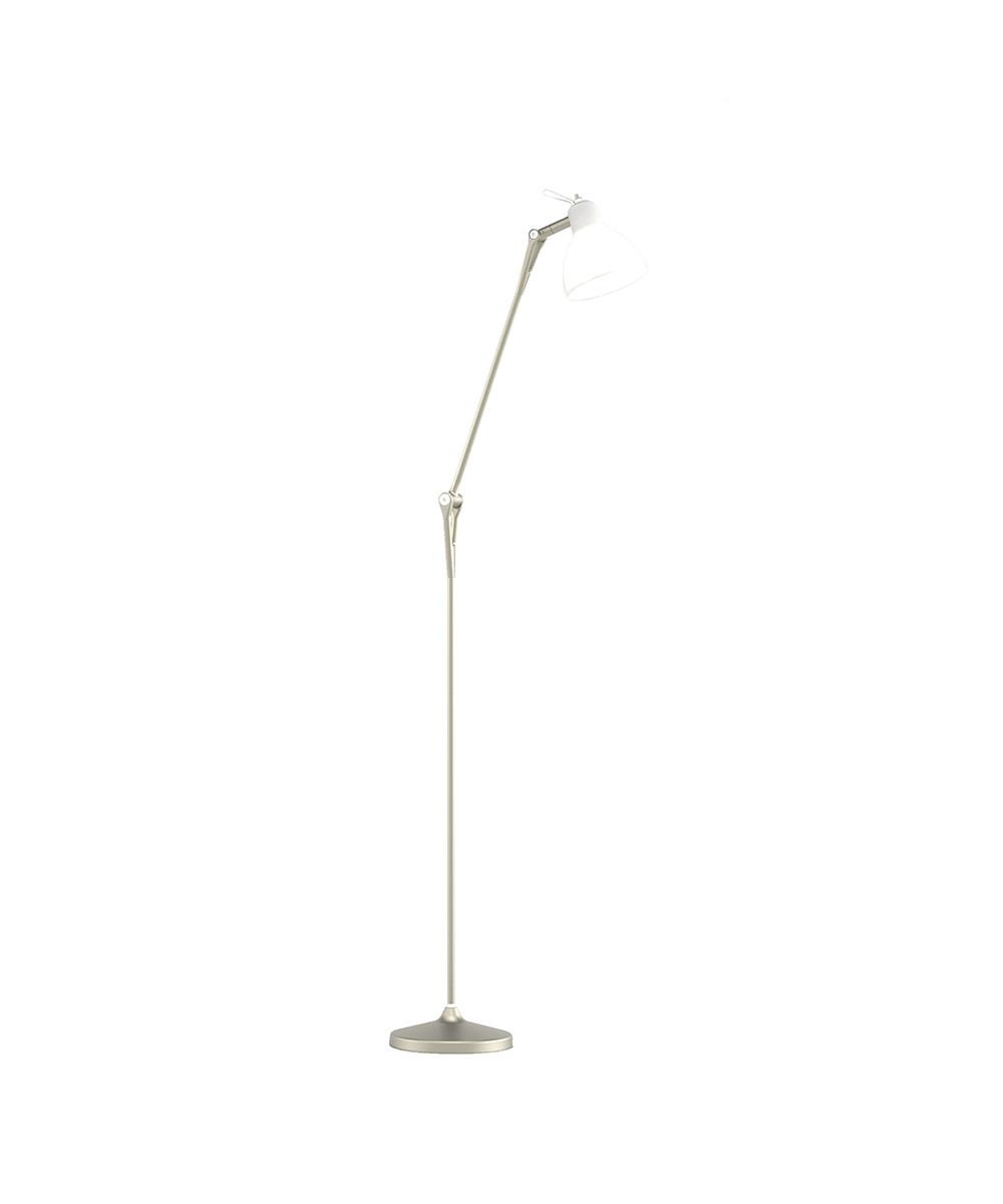 Luxy F1 Gulvlampe Light Bronze/Satin White - Rotaliana