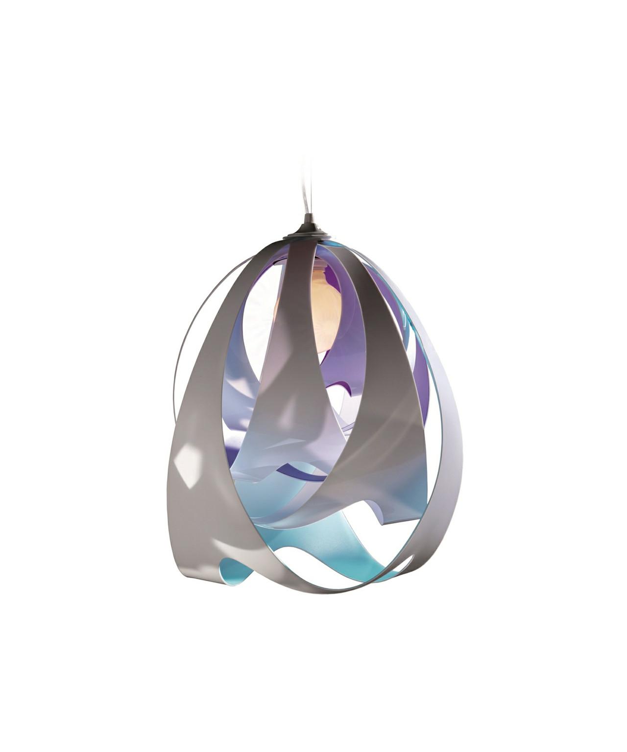 Goccia pendel opal blå/lilla/hvid