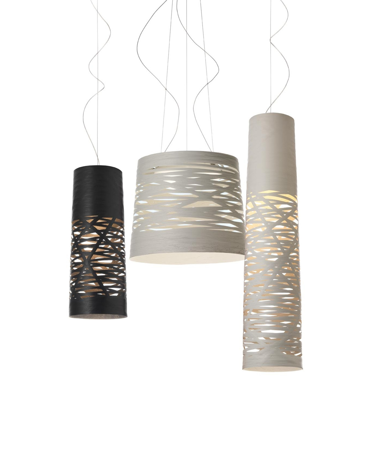 Tress Pendel Medium Sort 2m - Foscarini
