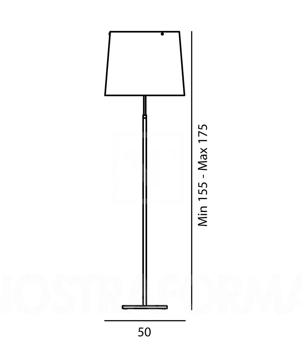 Giga-Lite Gulvlampe Sort - Foscarini