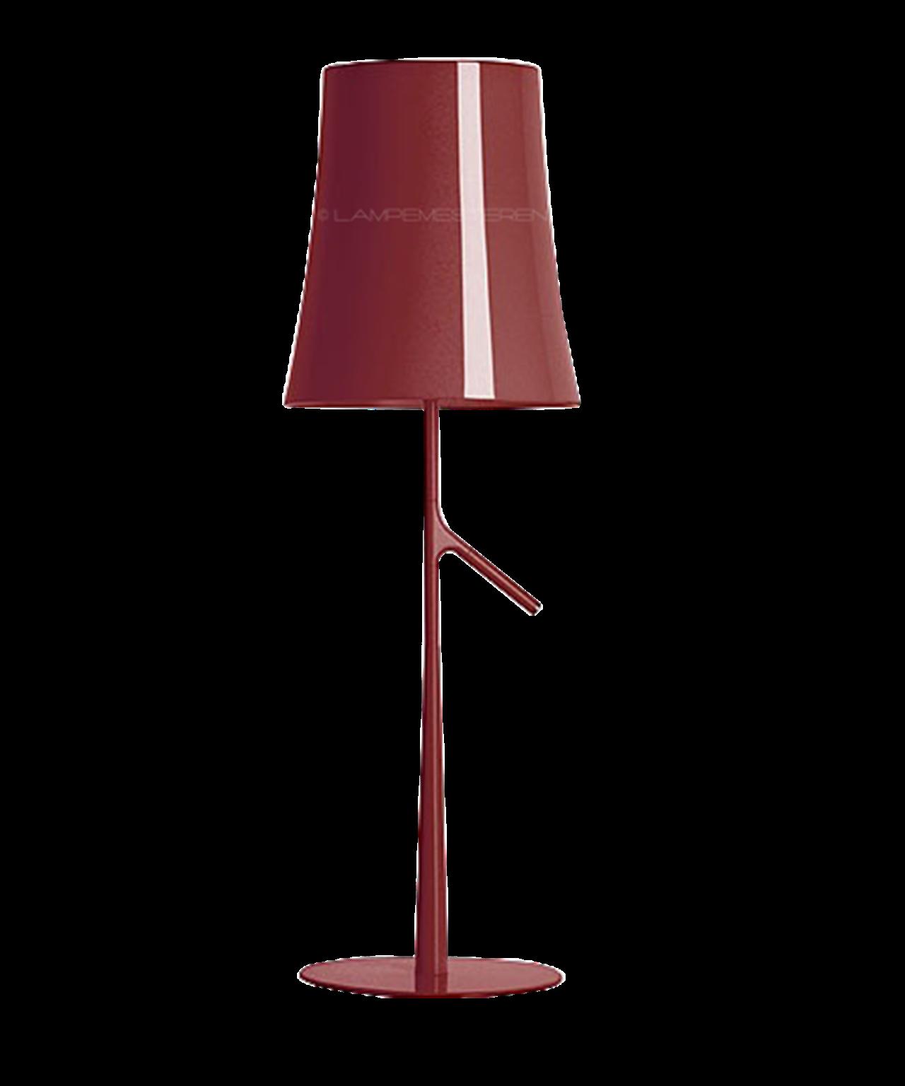 Image of   Birdie Piccola Bordlampe Mørkerød m/Dimmer - Foscarini