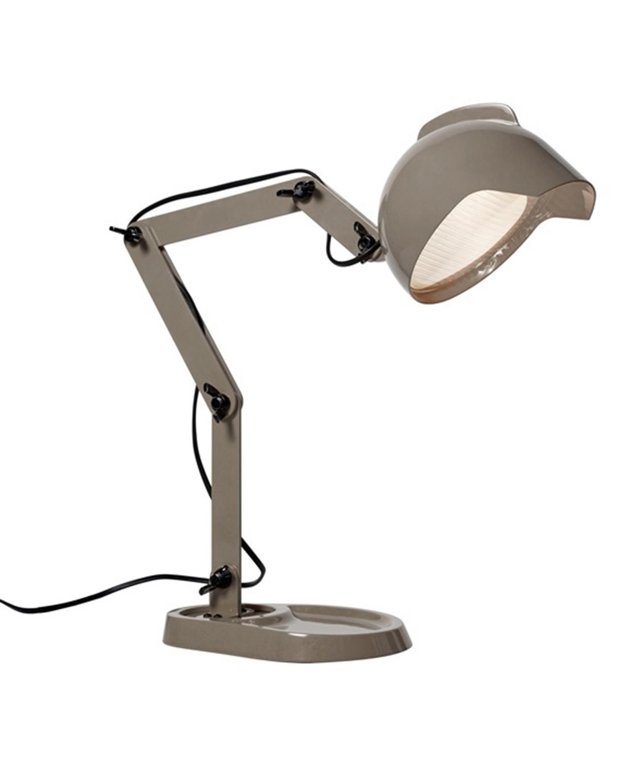 Duii bordlampe grå