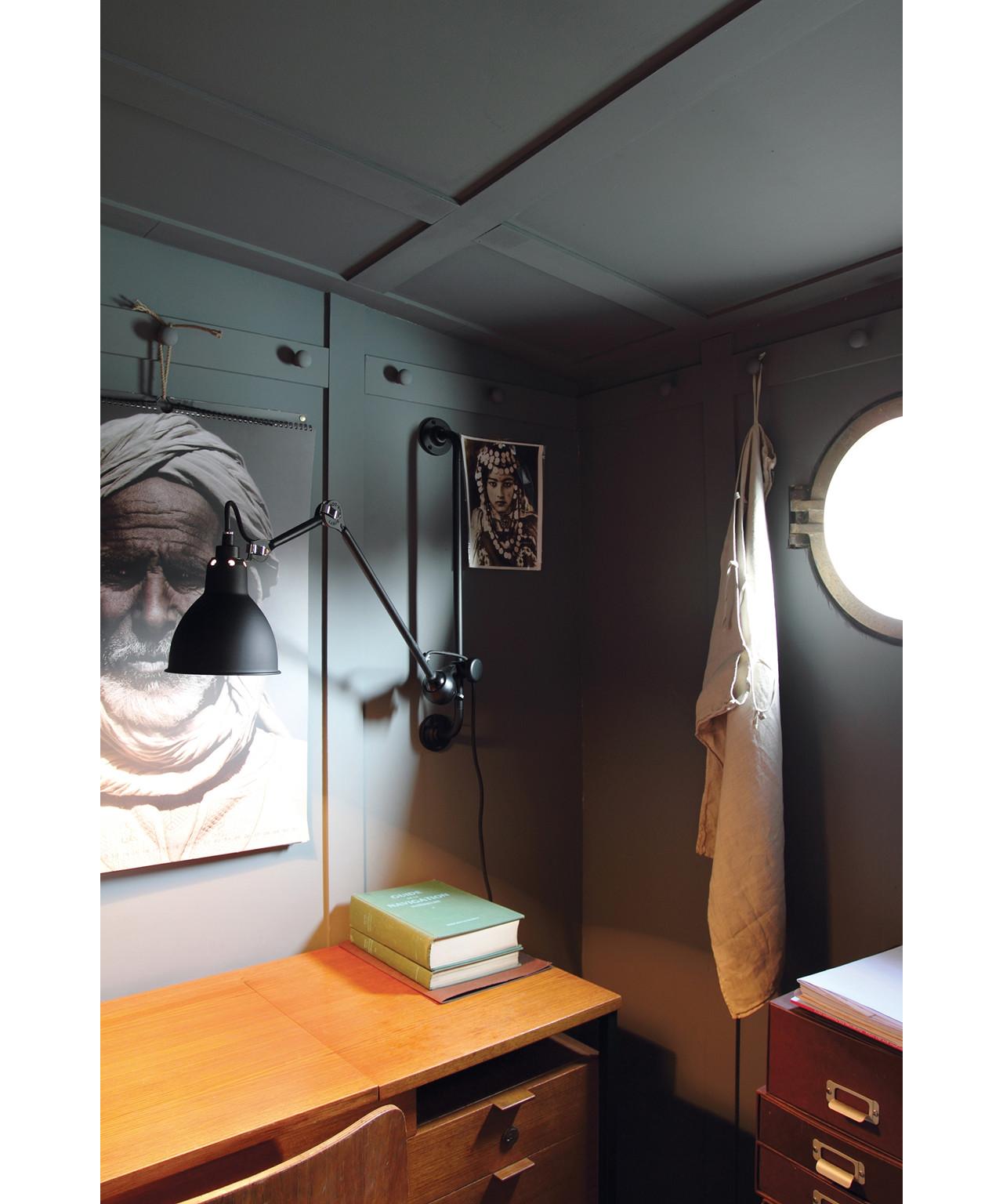 Image of   210 Væglampe Sort/Satin - Lampe Gras