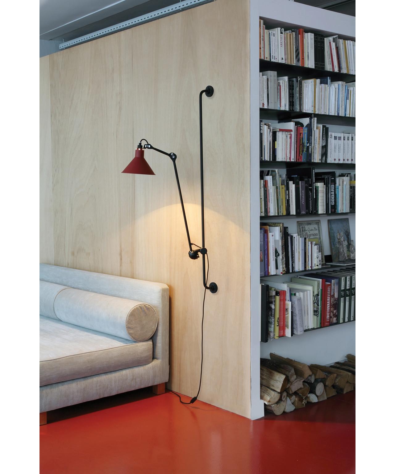 214 V u00e6glampe Rod Lampe Gras