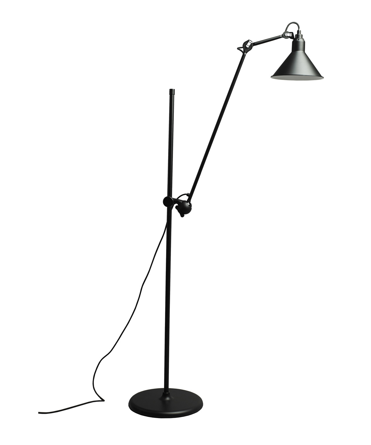 Image of   215 Gulvlampe Sort - Lampe Gras