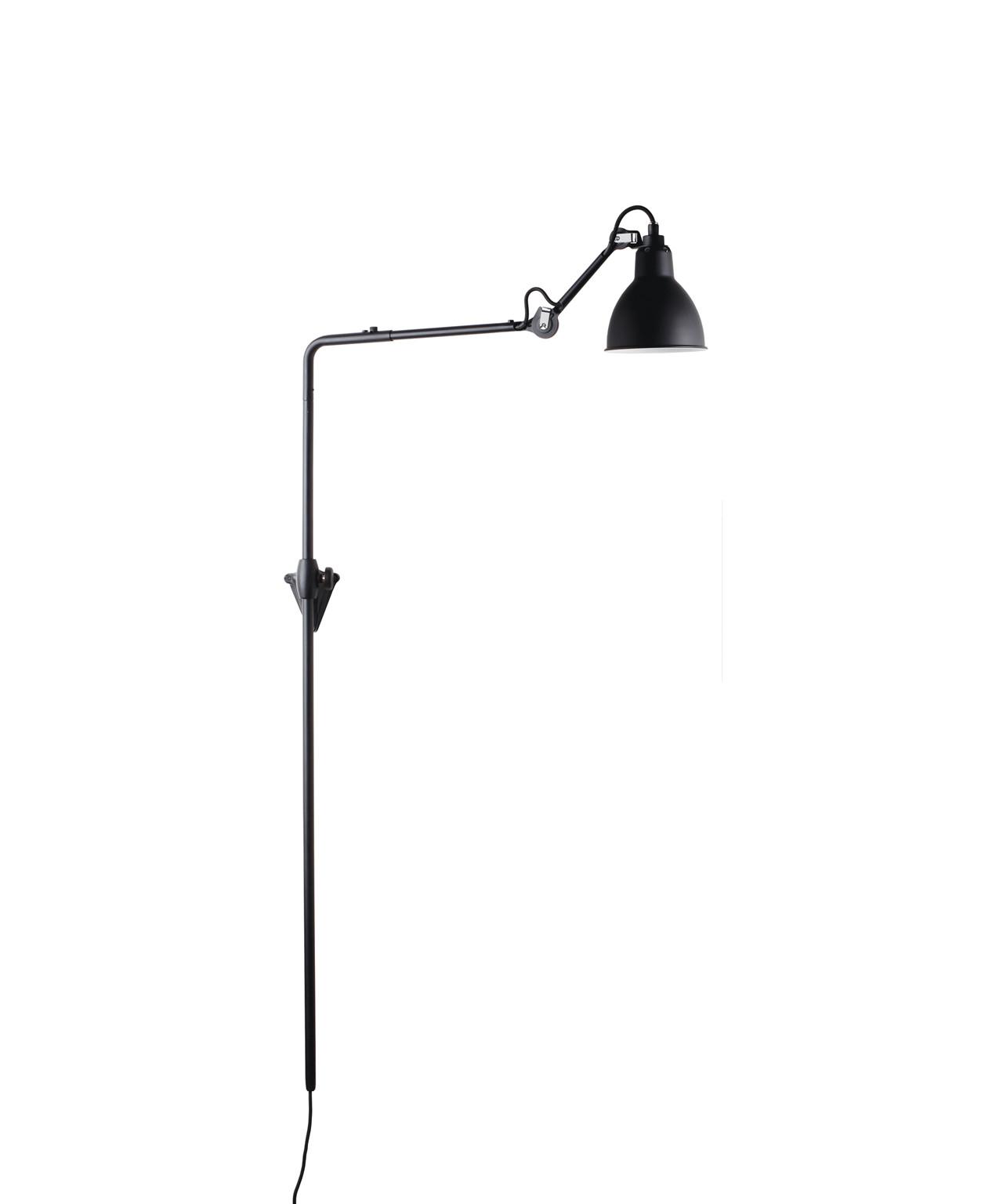 Image of   216 Væglampe Sort - Lampe Gras