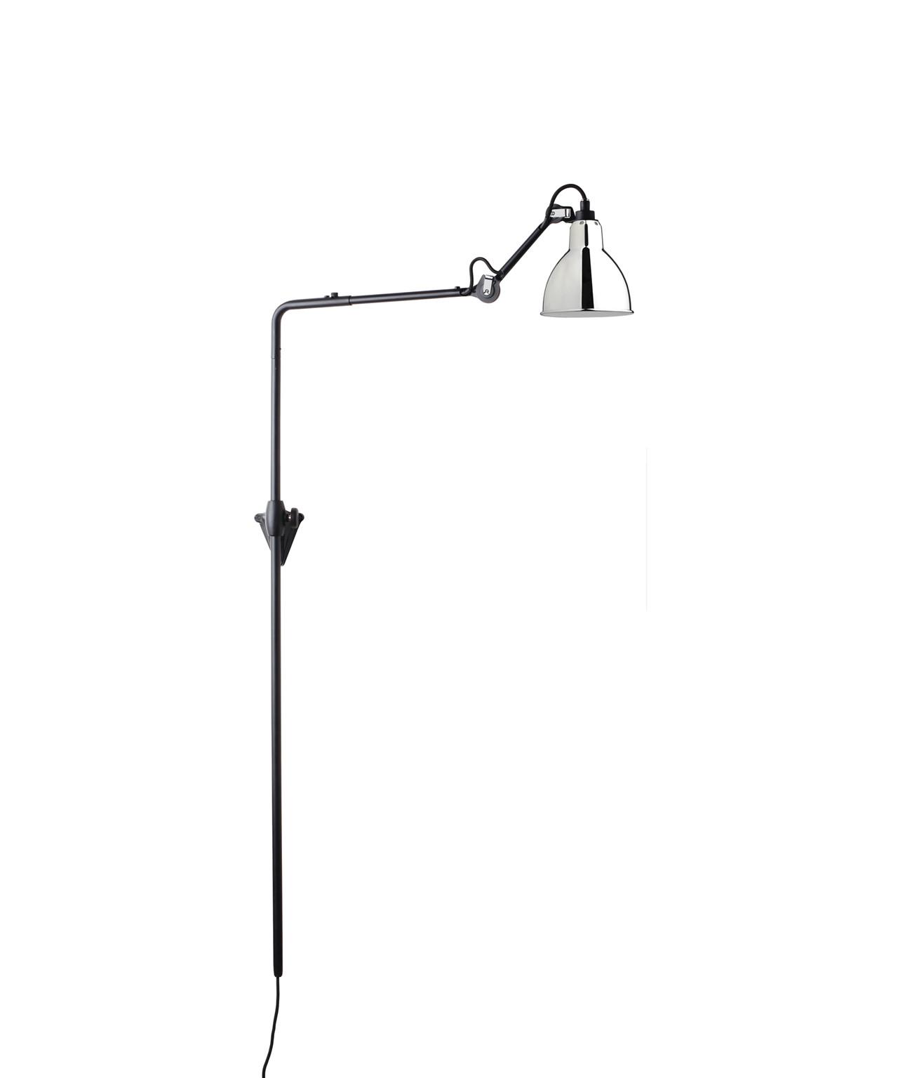 Image of   216 Væglampe Krom - Lampe Gras