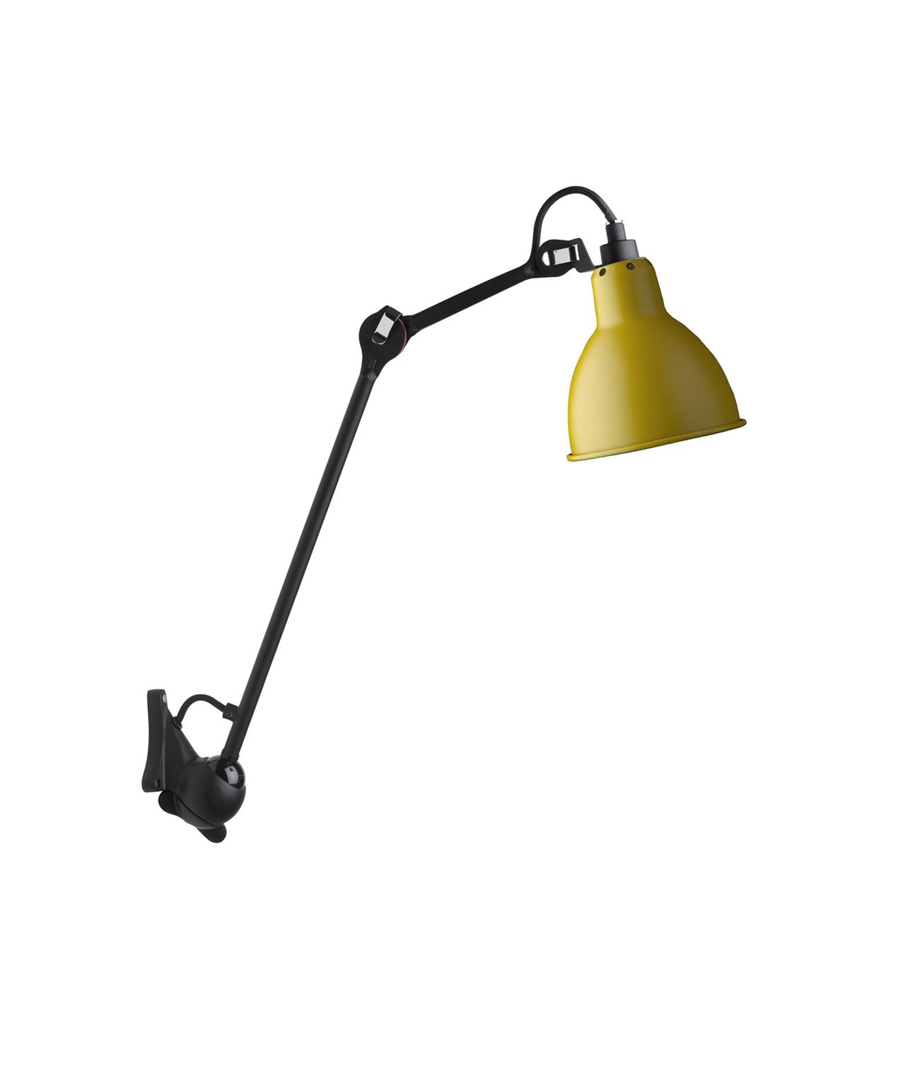 222 vegglampe gul svart lampe gras. Black Bedroom Furniture Sets. Home Design Ideas