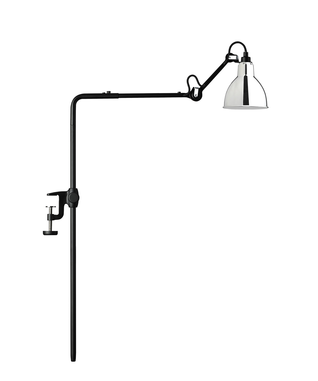 Image of   226 Bordlampe/Reol Lampe Krom - Lampe Gras
