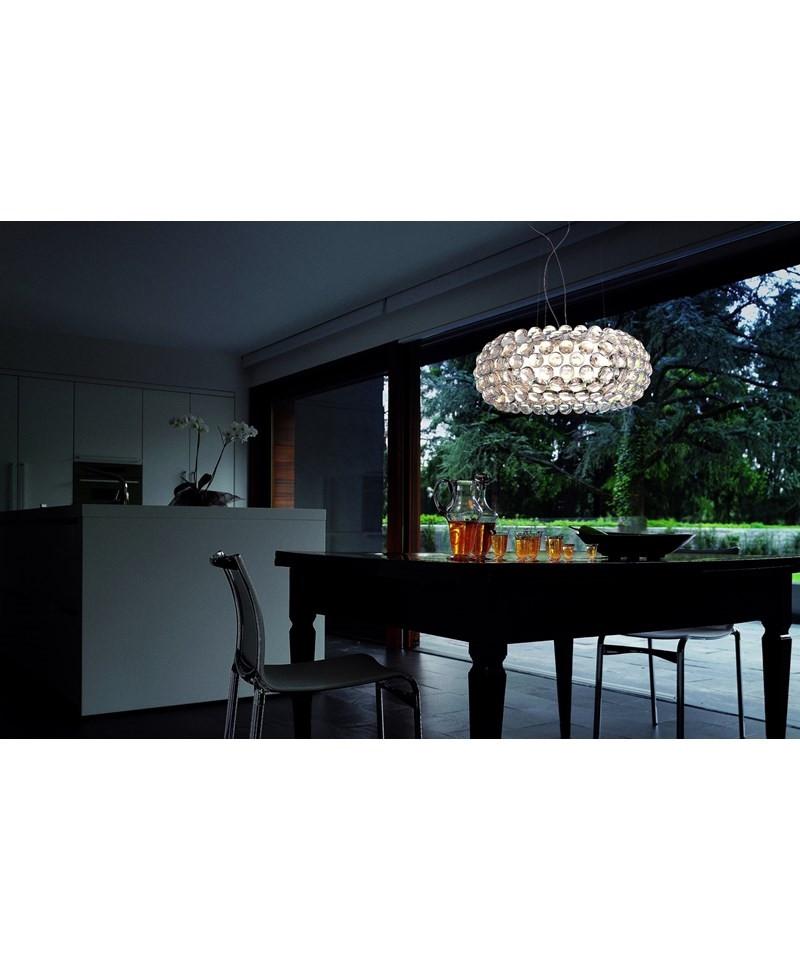 Caboche Grande LED Pendel Transparent - Foscarini
