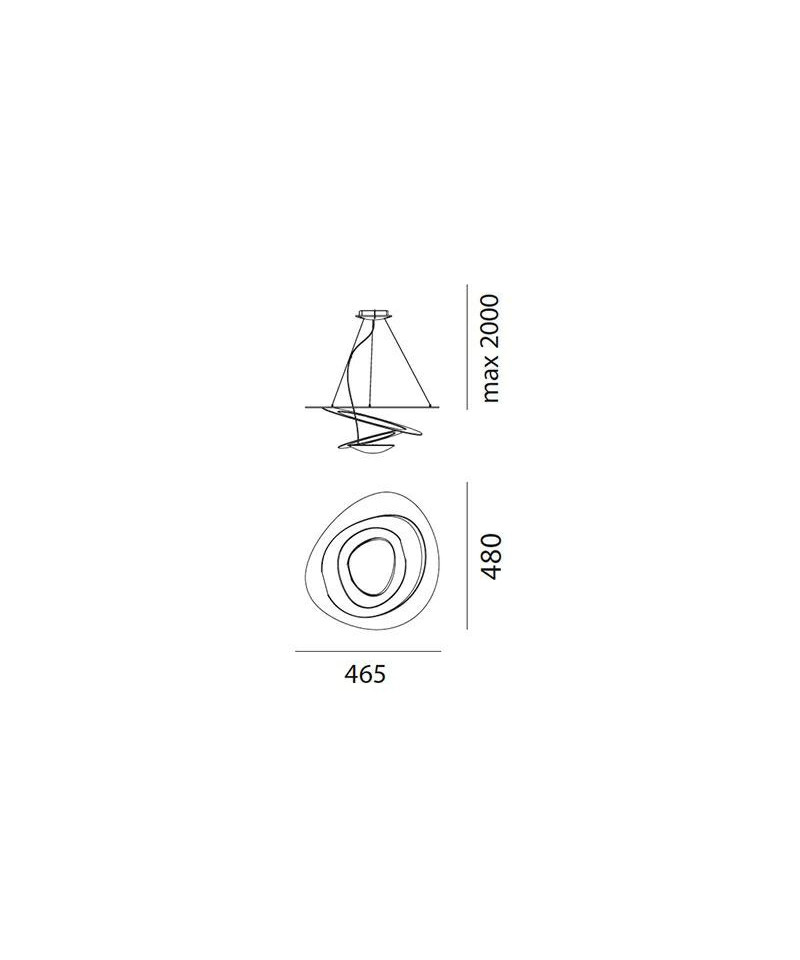 Pirce Micro LED Pendel Hvit - Artemide