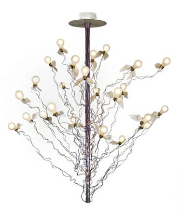 birds birds birds pendelleuchte 190cm rot blau kabel ingo maurer. Black Bedroom Furniture Sets. Home Design Ideas