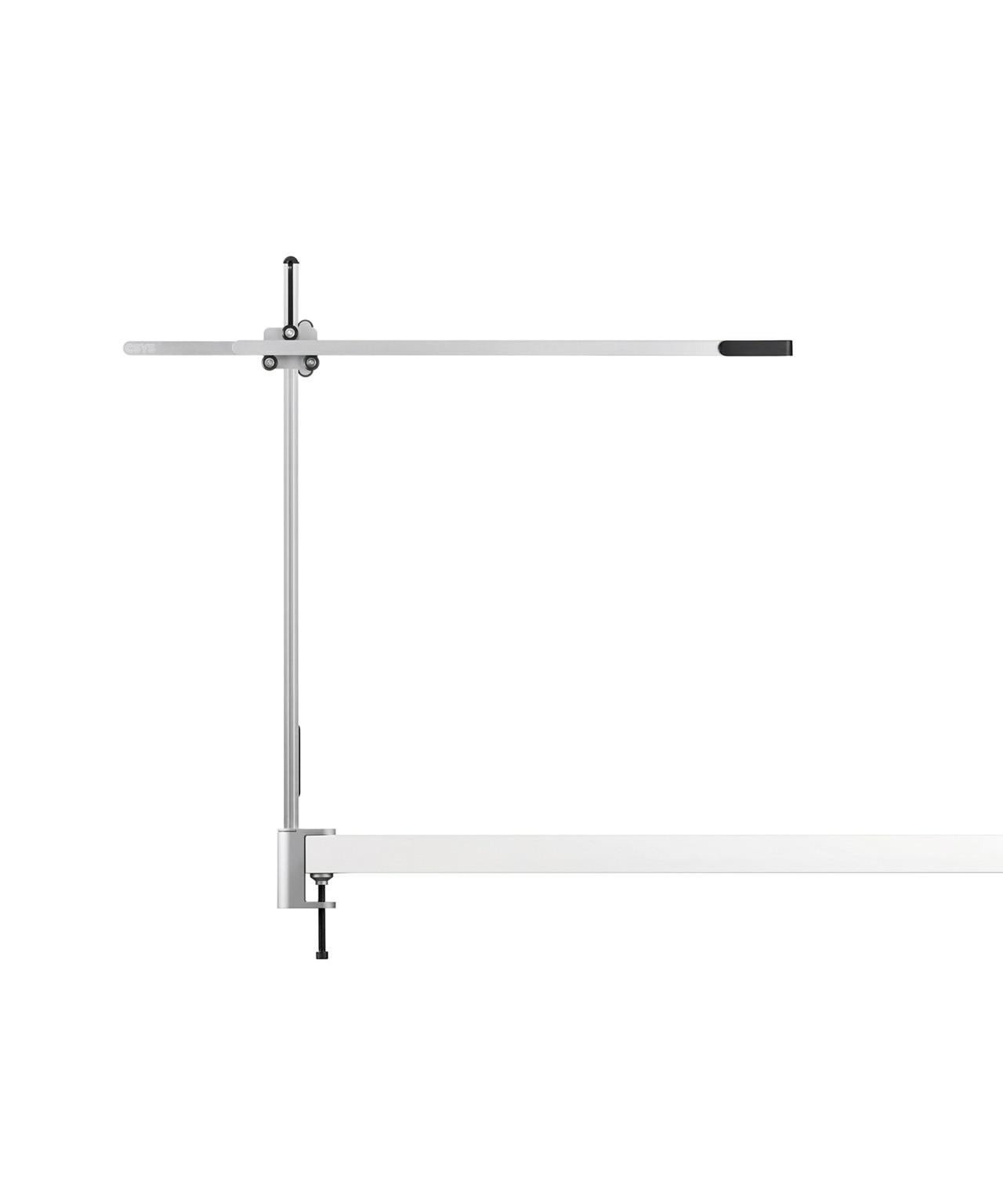 Csys bordlampe m/klampe sølv/sort