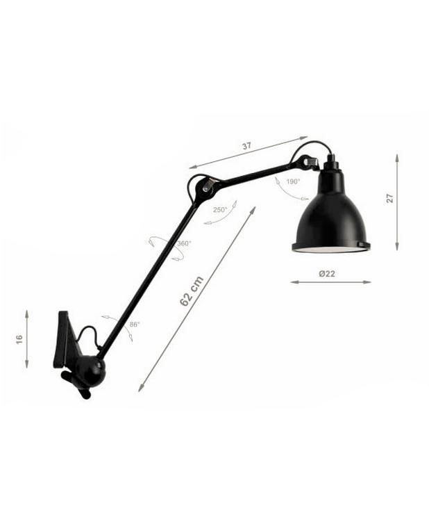 222 xl v glampe sort lampe gras. Black Bedroom Furniture Sets. Home Design Ideas