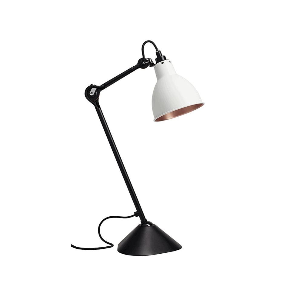 Image of   205 Bordlampe Sort/Hvid/Kobber - Lampe Gras