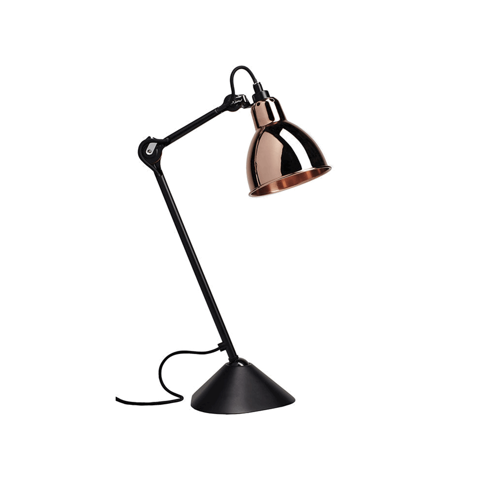 Image of   205 Bordlampe Sort/Kobber - Lampe Gras