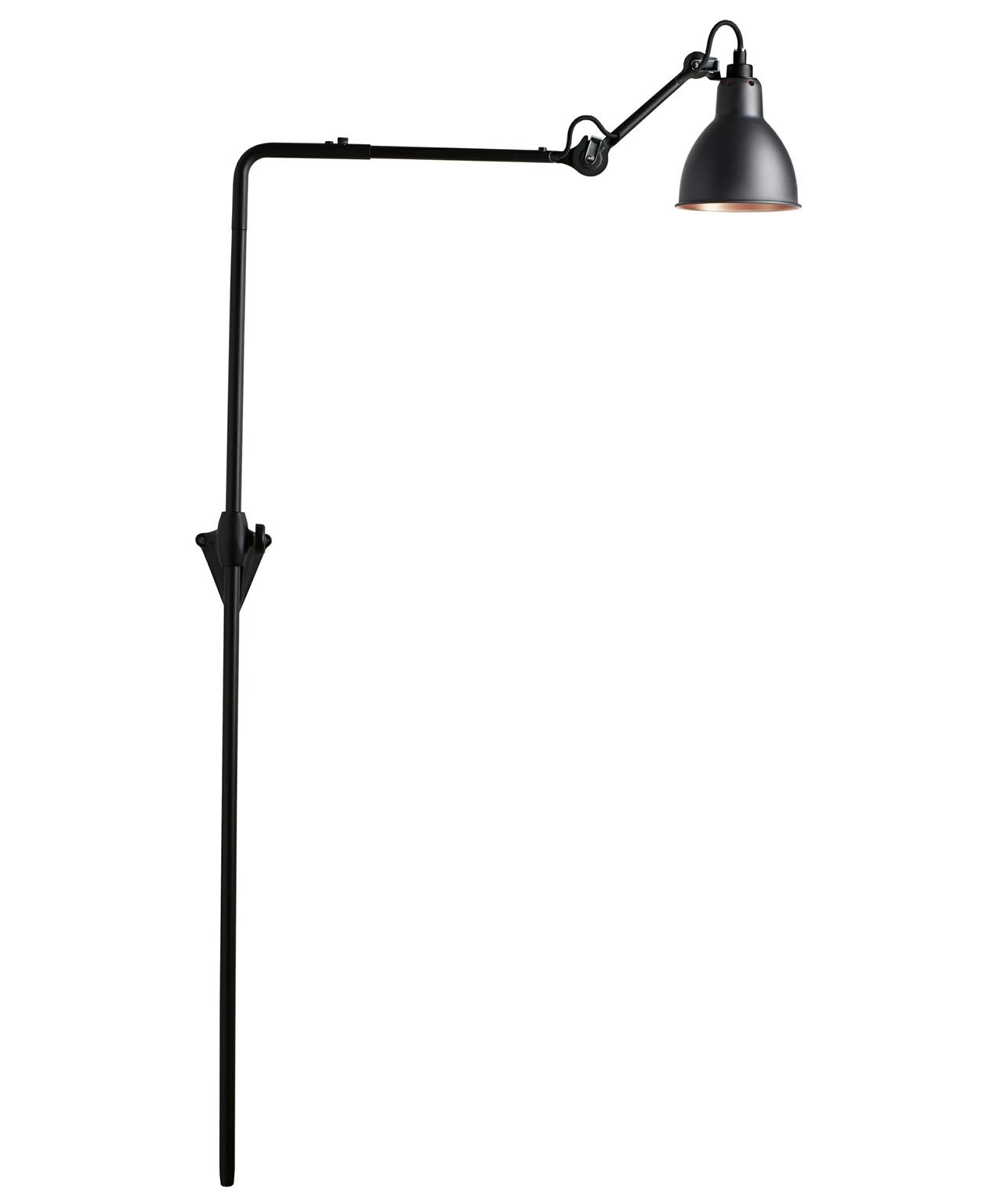 Image of   216 Væglampe Sort/Sort/Kobber - Lampe Gras