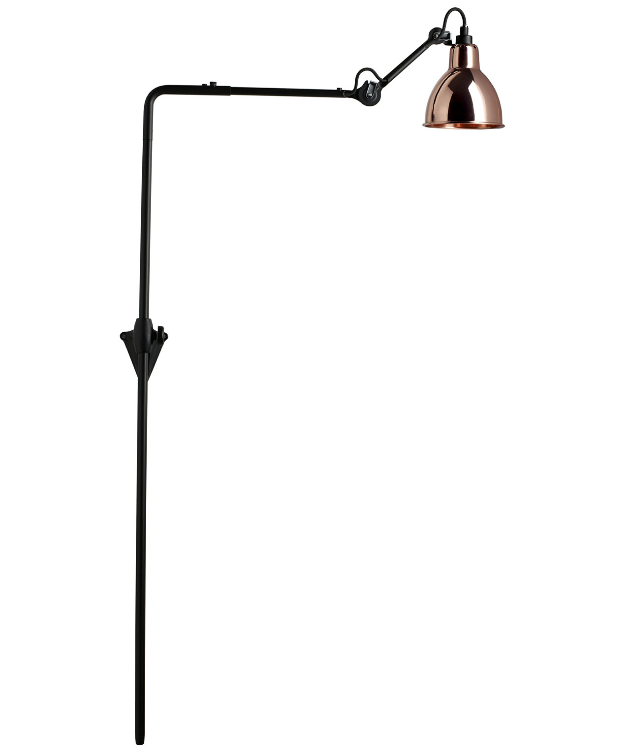Image of   216 Væglampe Sort/Kobber - Lampe Gras