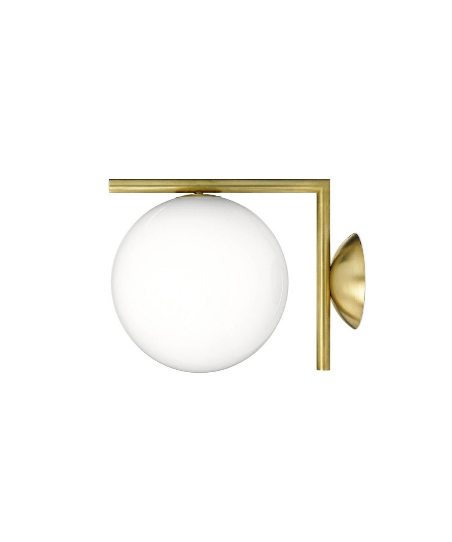 IC C/W1 Væglampe/Loftlampe Messing - Flos