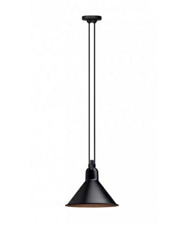 322 l pendelleuchte konisch schwarz kupfer lampe gras. Black Bedroom Furniture Sets. Home Design Ideas