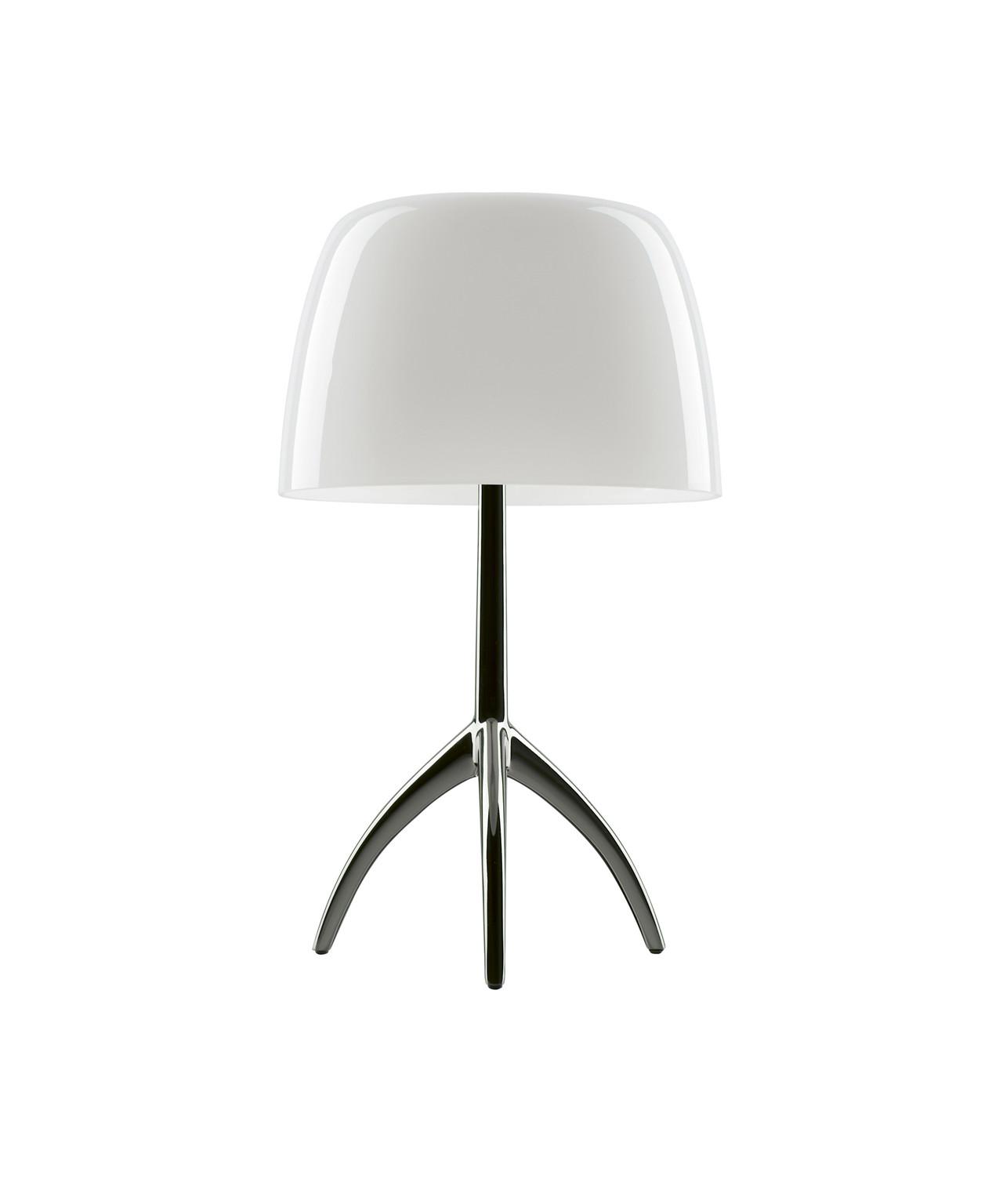 Lumiere Grande Bordlampe m/Dimmer Sort Krom/Hvid - Foscarini