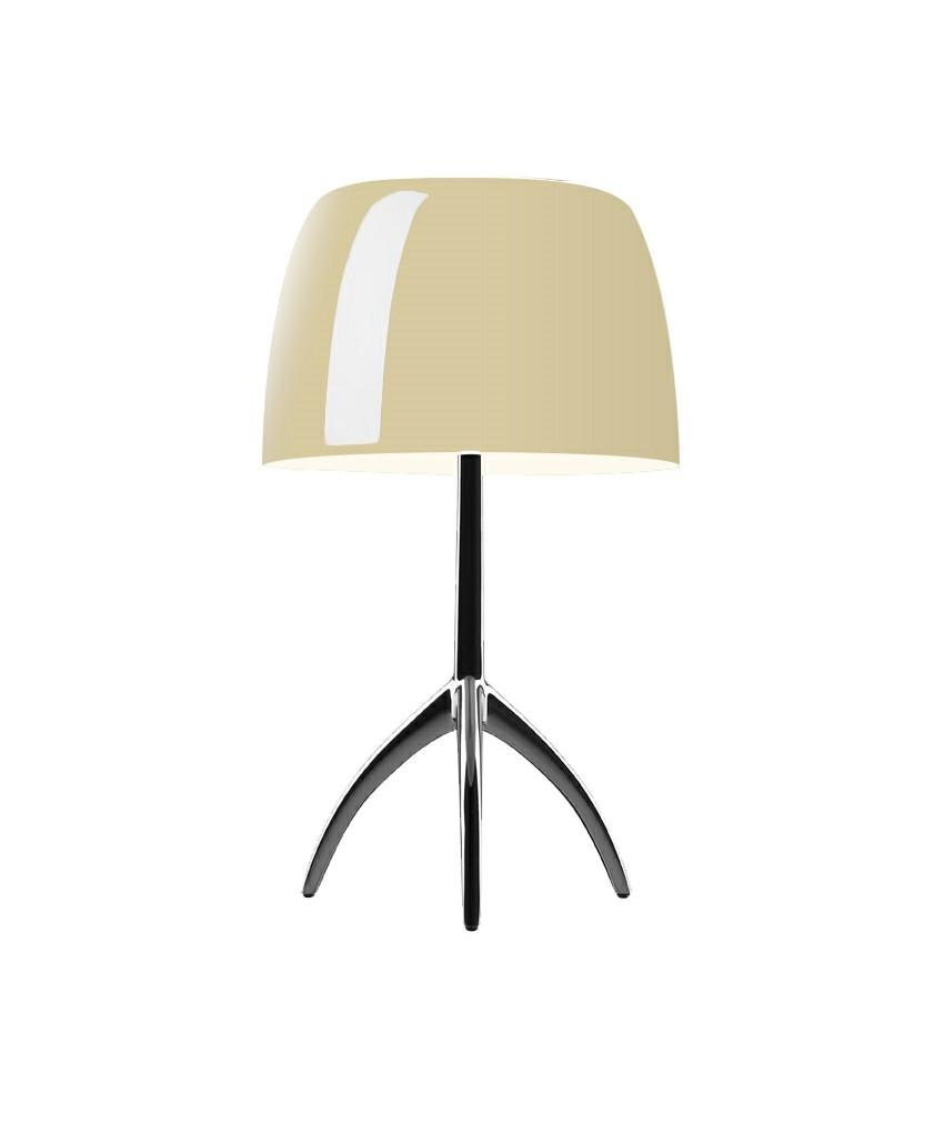 Lumiere grande bordlampe sort krom/varm hvid