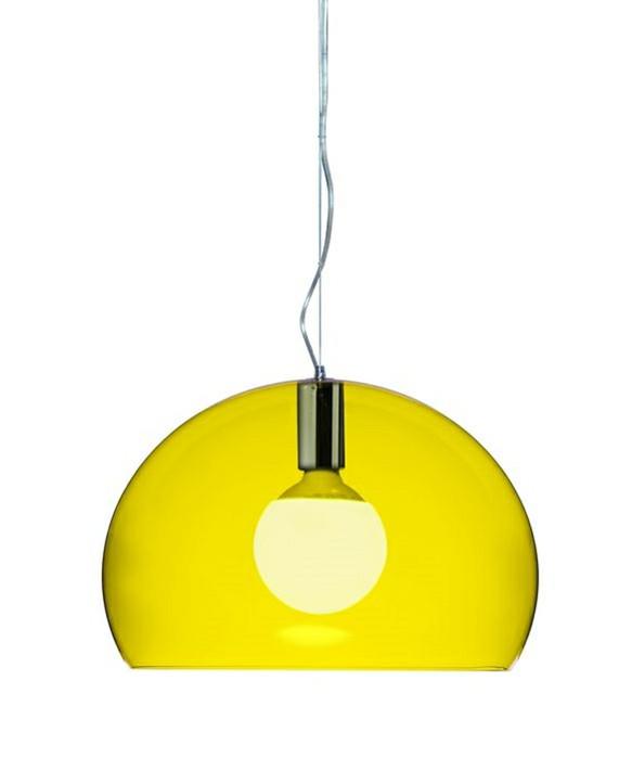 small fl y taklampa gul kartell. Black Bedroom Furniture Sets. Home Design Ideas