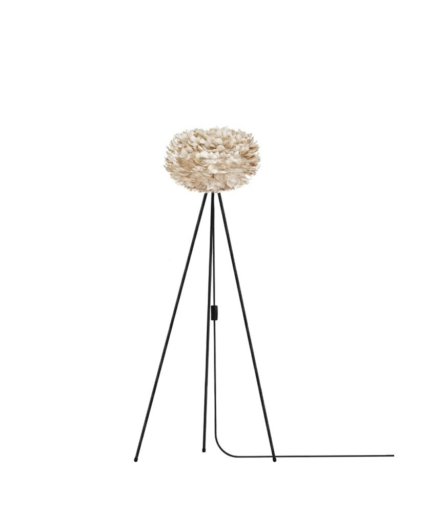 Eos Gulvlampe Medium Lys Brun/Sort - Umage