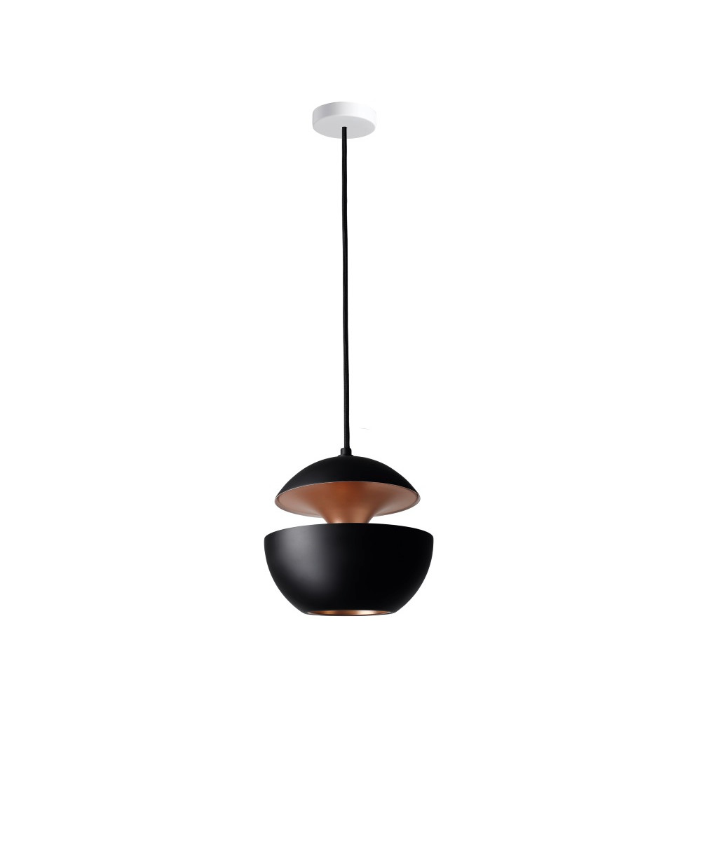 here comes the sun pendelleuchte 175 schwarz kupfer dcw. Black Bedroom Furniture Sets. Home Design Ideas