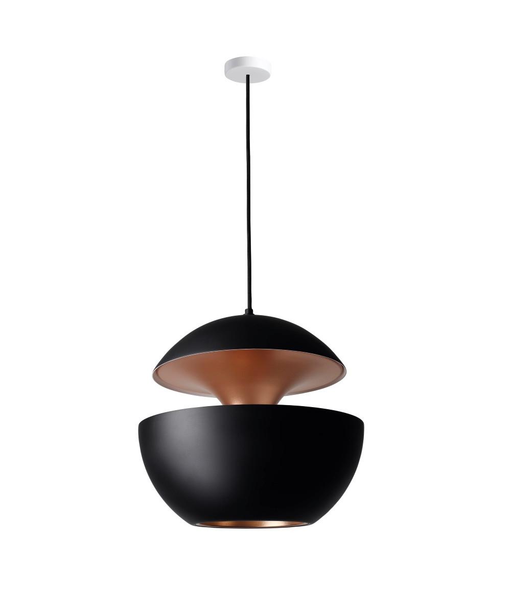 here comes the sun pendelleuchte 550 schwarz kupfer dcw. Black Bedroom Furniture Sets. Home Design Ideas