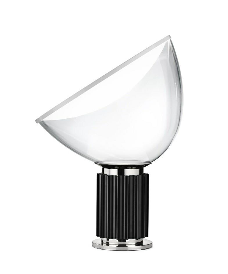 taccia glas tischleuchte schwarz flos. Black Bedroom Furniture Sets. Home Design Ideas