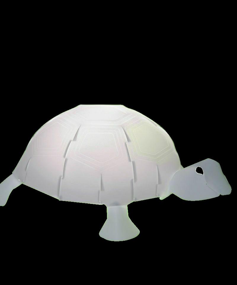 DesignRamin Razina for Zoolight  Koncept Den klassiske Skildpadde Bordlampe fra Zoolight er en del af  serien med de søde lysende dyr. Zoolight er en serie af luksus børnelamper, som er designet meget stilrent og er efterhånden en klassiker på børneværelset. Det smarte ved denne børnelampe er, at den både har en almindelig lampefunktion samt en vågelampe funktion. Tænd/sluk kontakten der sidder på ledningen, har to indstillinger, så det er let at skifte til natlys, når godnathistorien er læst færdig. De små vågelamper har også en super smart funktion. De kan nemlig skifte farve, når man klapper i hænderne, og de er slet ikke til at stå for.  De populære Zoolight lamper er sikkerhedsgodkendt og de er derfor 100% sikker for dig og dit barn. Børnelamperne er fremstillet i kraftig, hvid polypropylen og har LED-lys, hvilket betyder at pæren er energibesparende og ikke bliver varm. Barnet har derfor ingen mulighed for at brænde sig på pæren, selvom lampen placeres ved sengen.