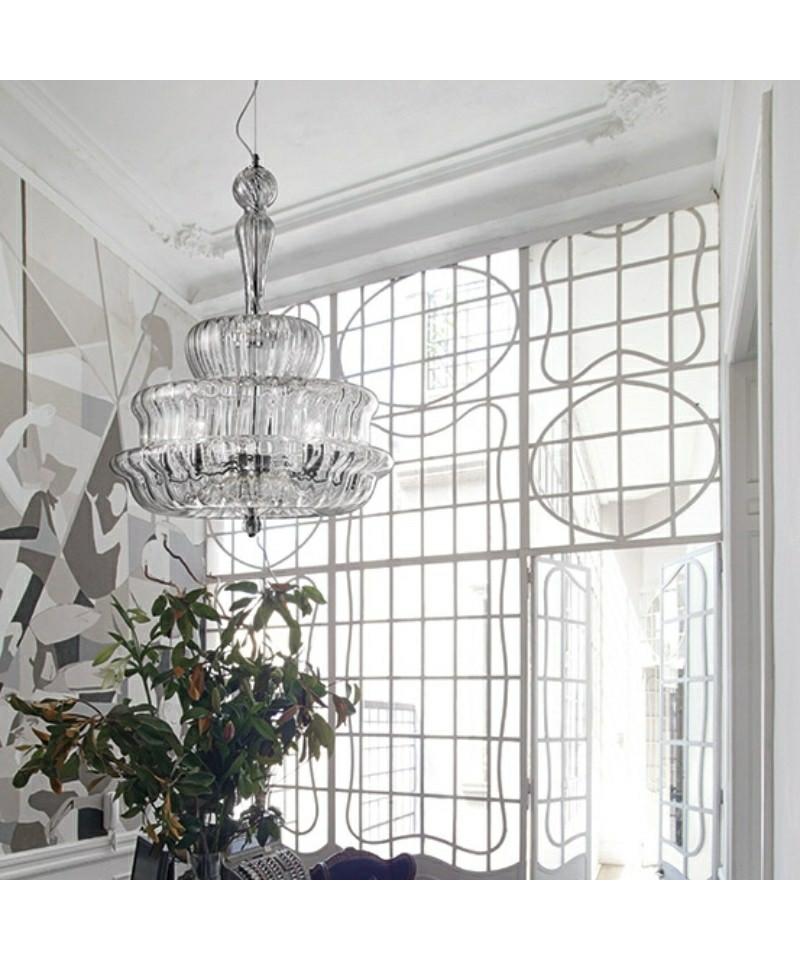 novecento pendelleuchte kristall vistosi. Black Bedroom Furniture Sets. Home Design Ideas