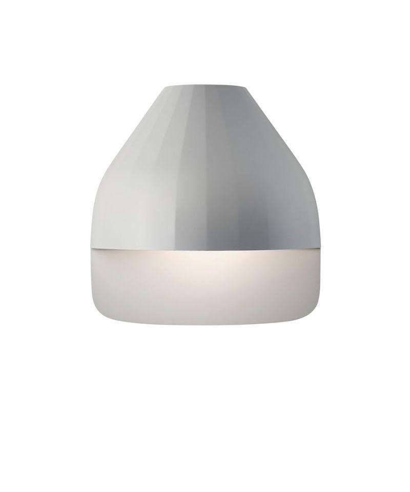 Facet Udendørs Væglampe m/Small Baseplade Lys Grå - Le Klint