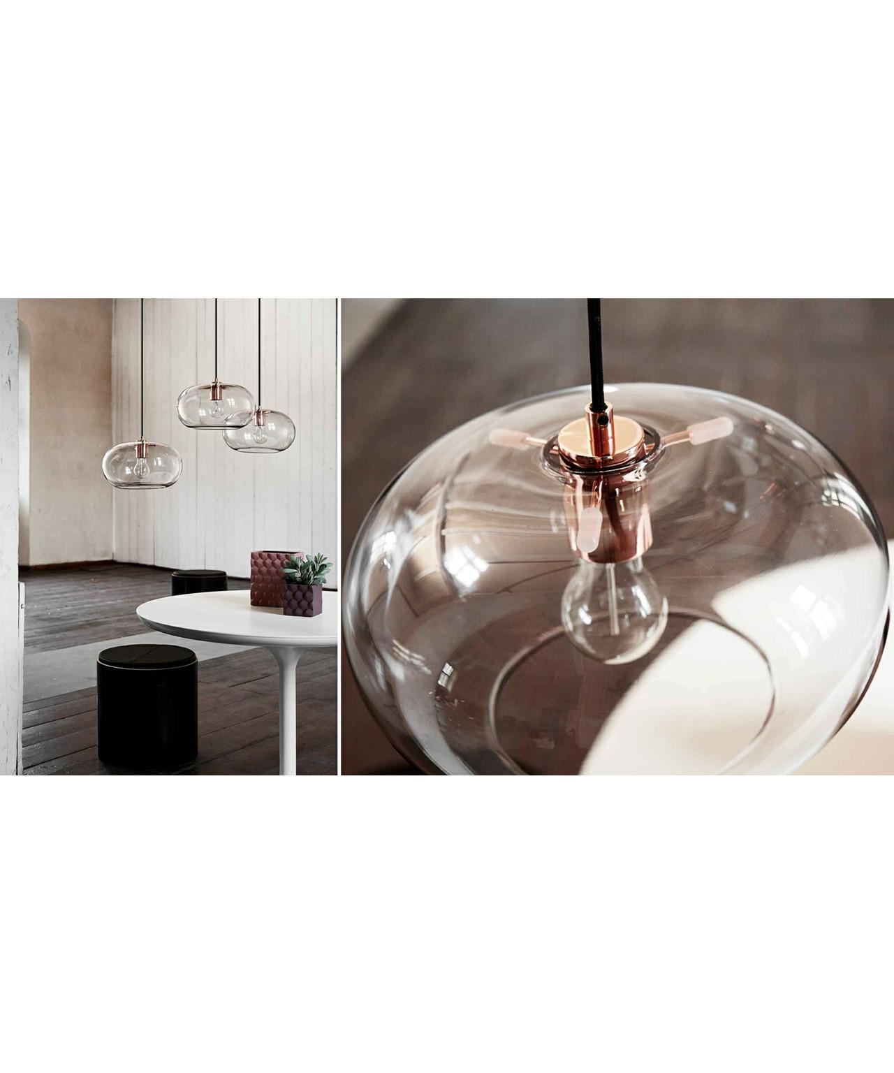 kobe glas pendelleuchte rauchig kupfer frandsen. Black Bedroom Furniture Sets. Home Design Ideas