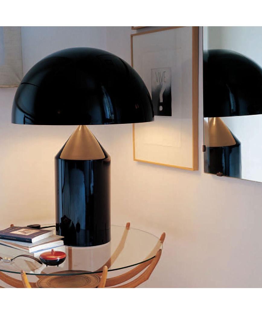 Atollo bordlampe medium sort