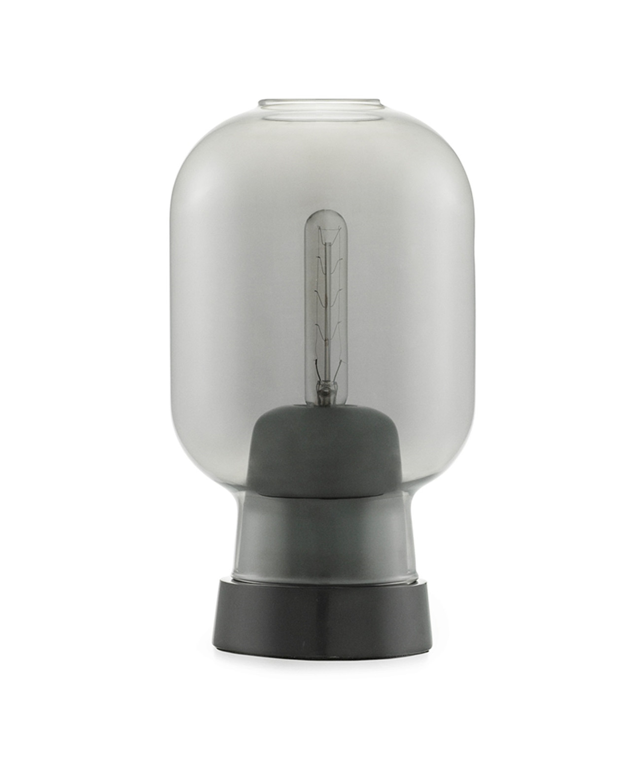 Amp Bordlampe Røg/Sort - Normann