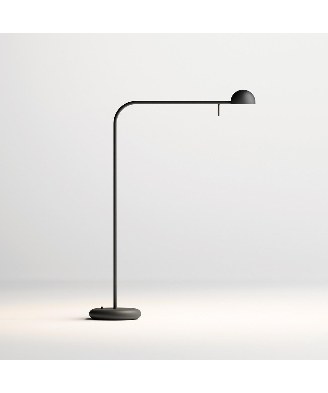 Pin gulvlampe mat sort