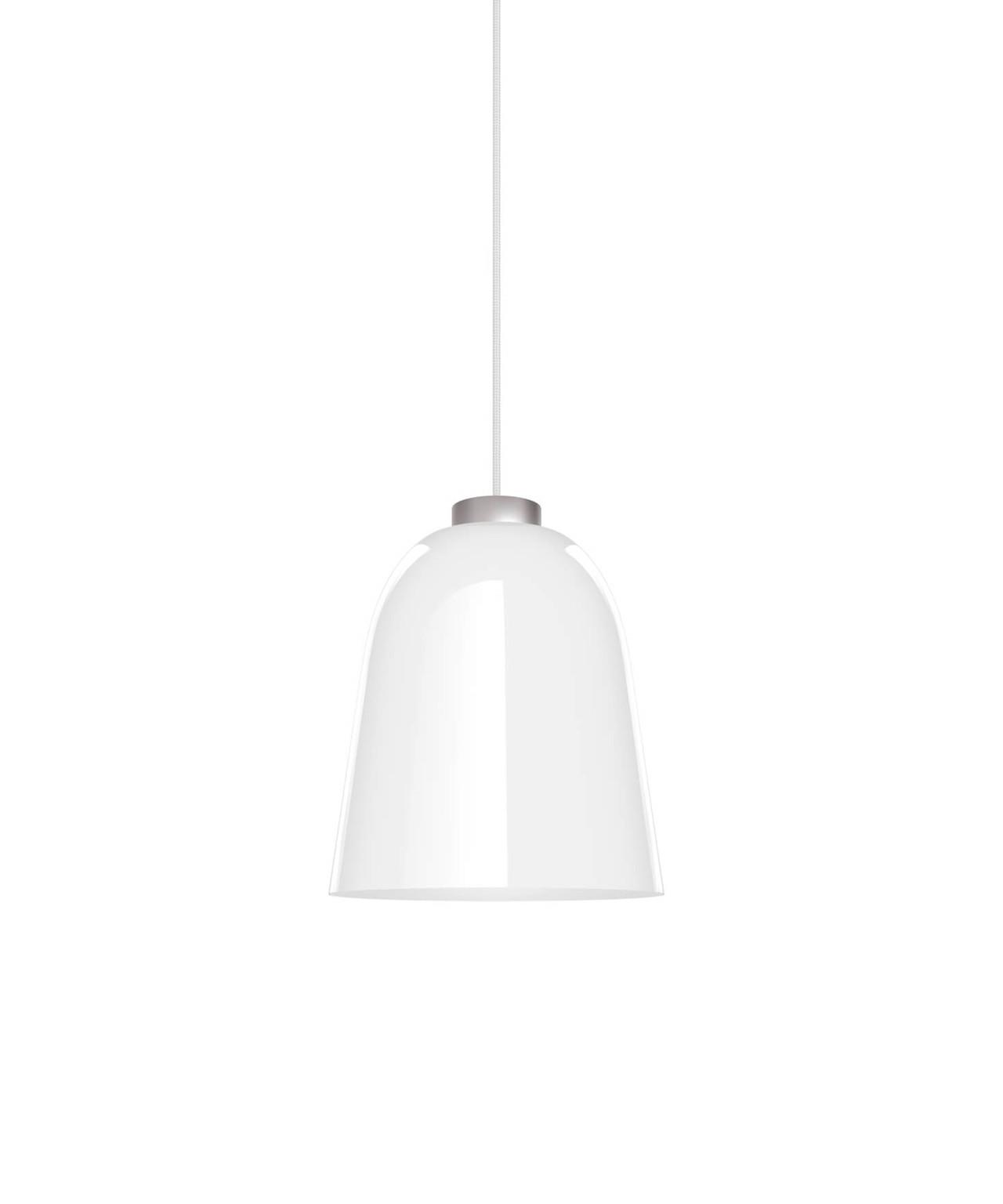 Summera pendel medium blank hvid/sølv