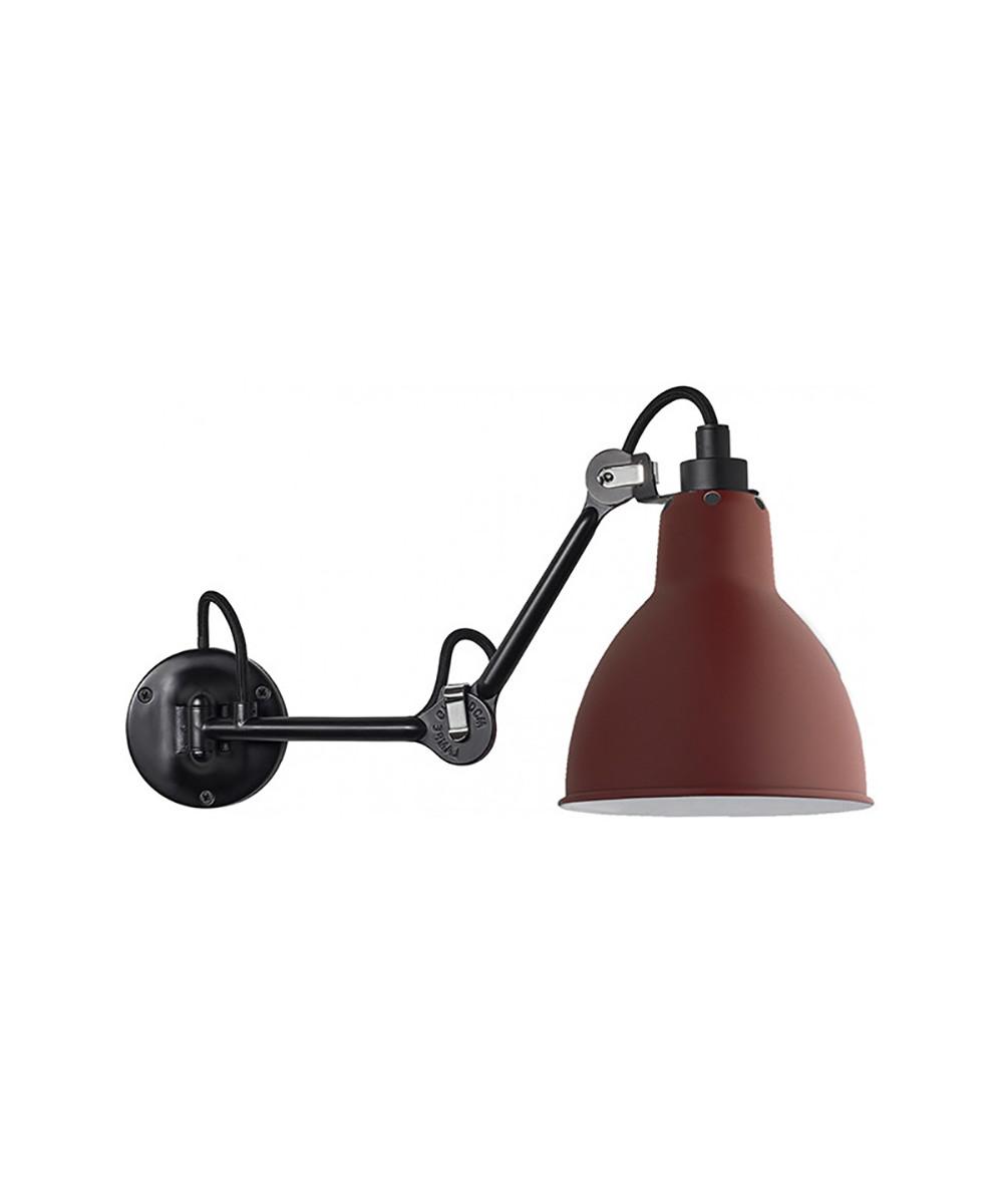 Image of   204 Væglampe Sort/Rød - Lampe Gras