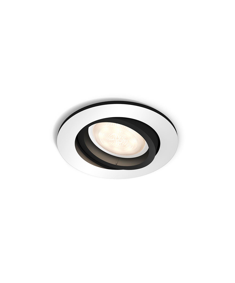 Milliskin round loftlampe alu